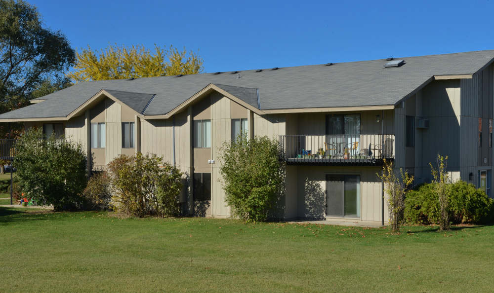 Exterior of apartments at Parquelynn Village Apartments in Nashotah, WI