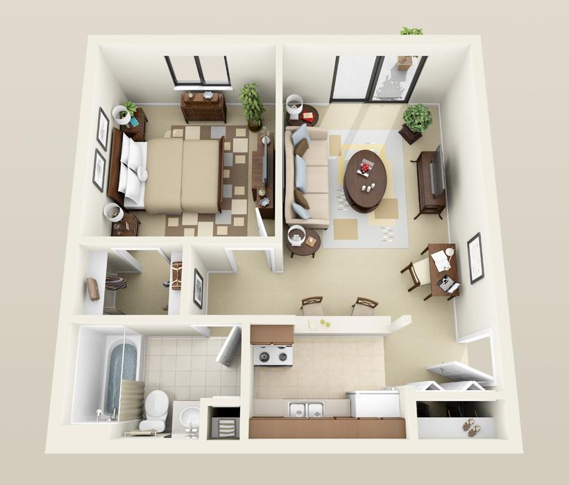 Stanton floor plan for Heather Downs Apartments