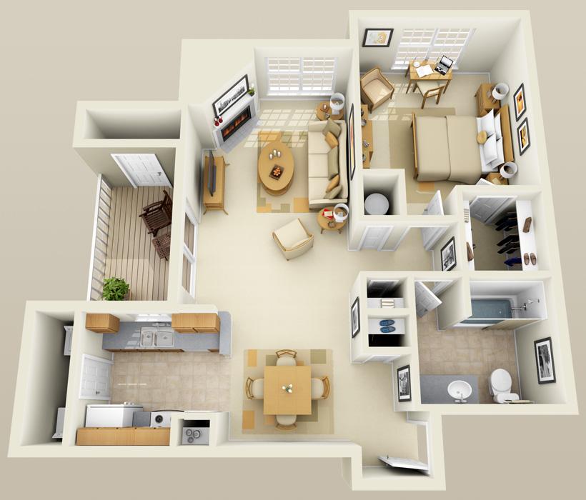 A-3 floor plan at Lincoln Ridge Apartments