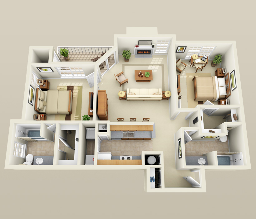 Awesome 3 Bedroom Apartments Madison Wi B 3 Floor Plan For Lincoln Ridge Apartments  Bedrooms 2 Affordable