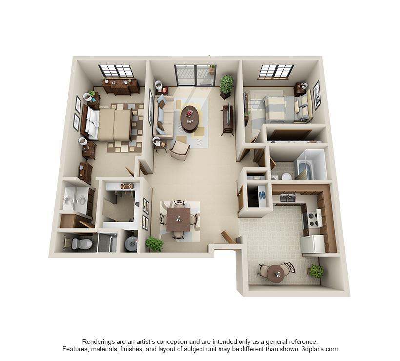 Oak floor plan for Pinewood Creek
