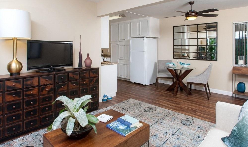 Spacious living room at Greenpointe Apartment Homes in Santa Clara, CA