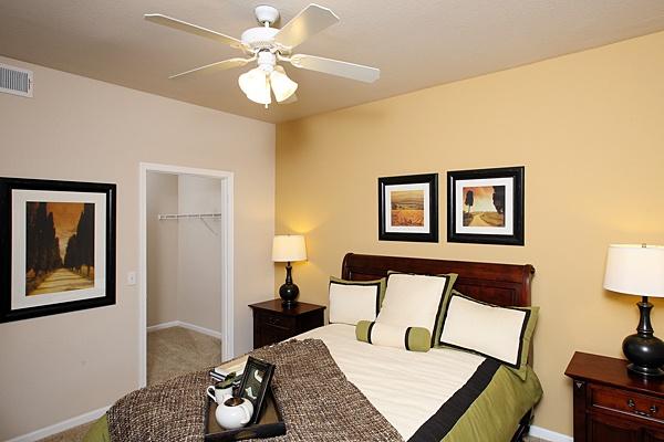 Master bedroom at The Lodge at Napa Junction