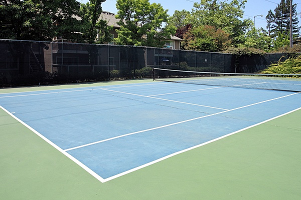 Tennis court at The Villages in Santa Rosa, CA