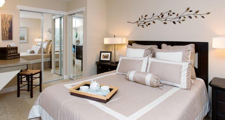 Master bedroom at Vintage Ridge Apartment Homes