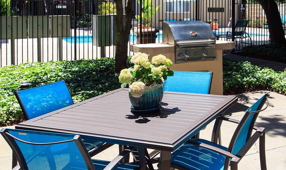 Outdoor Furniture At Tamarack Apartments In Santa Clara