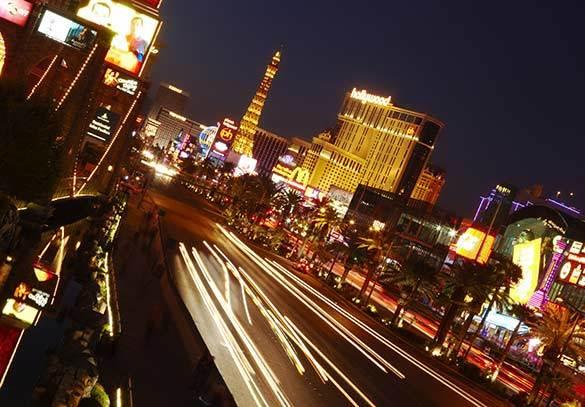Night time in Las Vegas