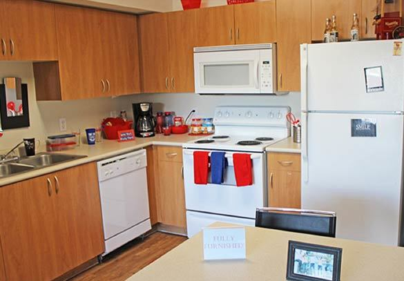 The kitchen at our Tucson apartment homes