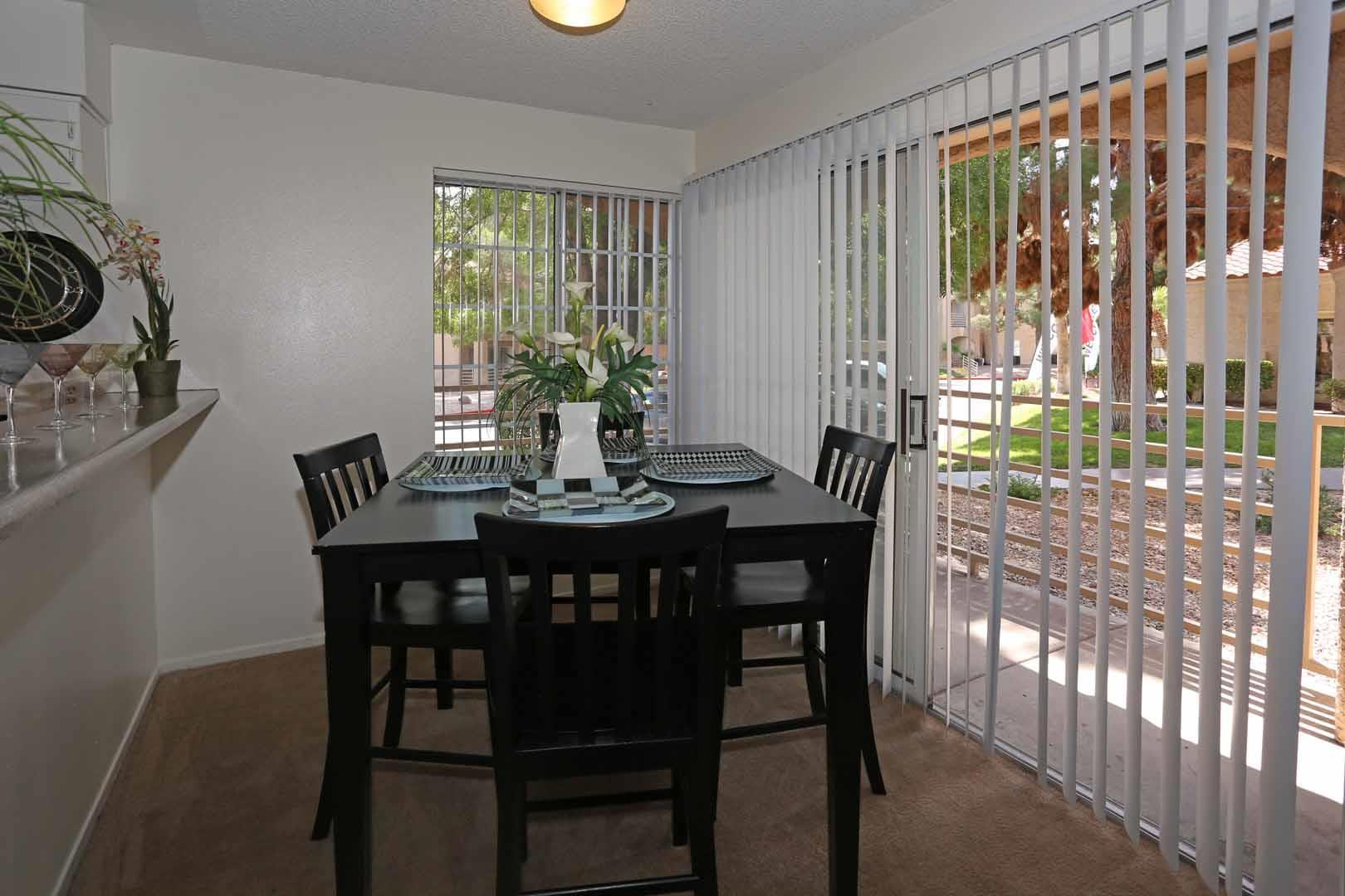 Fine breakfast dining in our apartments in Las Vegas NV