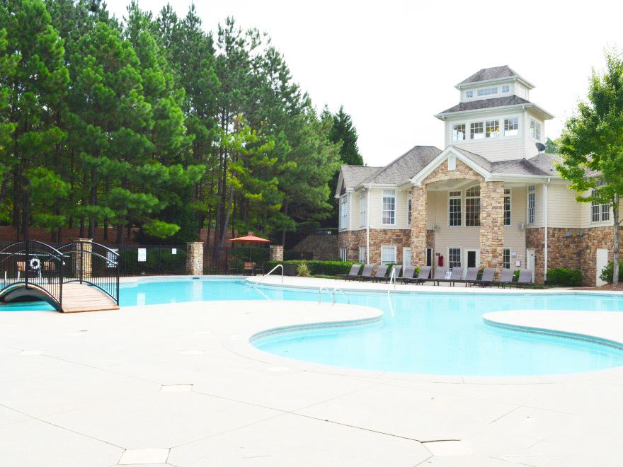 The swimming pool at our Norcross apartments