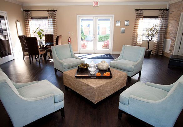 Interior view of our Winter Park apartment clubhouse