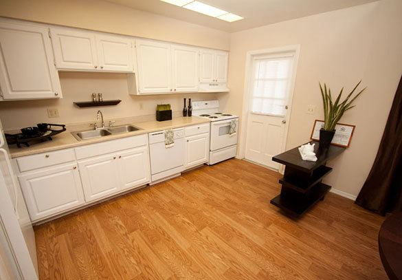 A look inside our kitchen at our apartments in Winter Park
