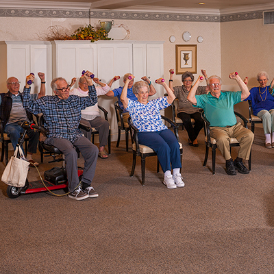 Life enrichment at Riverside Inn at Fossil Creek