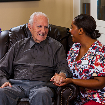 Memory care at senior living in Amber Creek