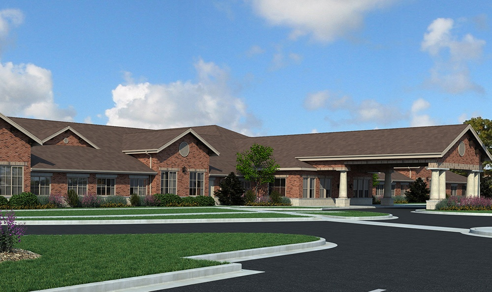 Rendering Bloomingdale Illinois Senior Living Community
