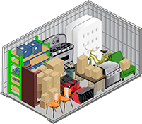 Van Mall Storage's 10x15 storage unit