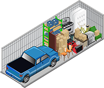Van Mall Storage's 10x30 storage unit