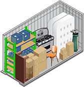 I-205 Mini Storage's 5x10 foot storage unit