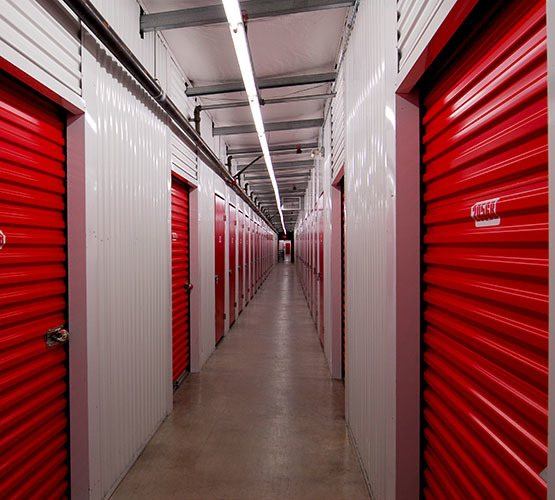 Interior Nanaimo self storage units