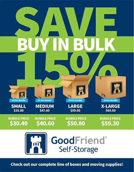 Bundle and Save with GoodFriend Self Storage