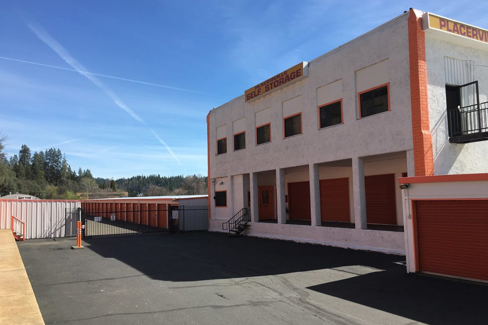 Exterior view of our self storage facility in Placerville, CA