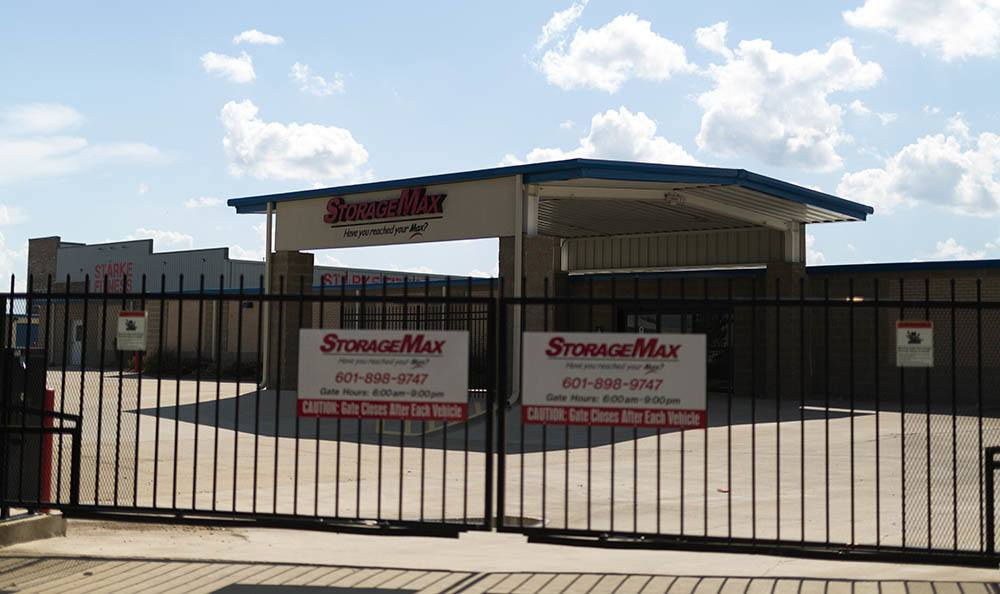 Secured gates at Self-Storage in Madison