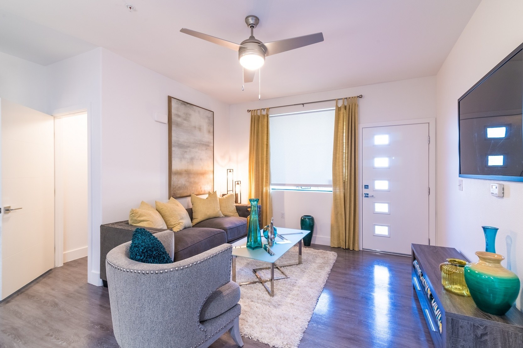 Large living rooms at EVO Apartments