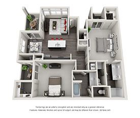 Modern loft 1 2 3 bedroom apartments in las vegas nv for 1 bedroom and den apartments near me