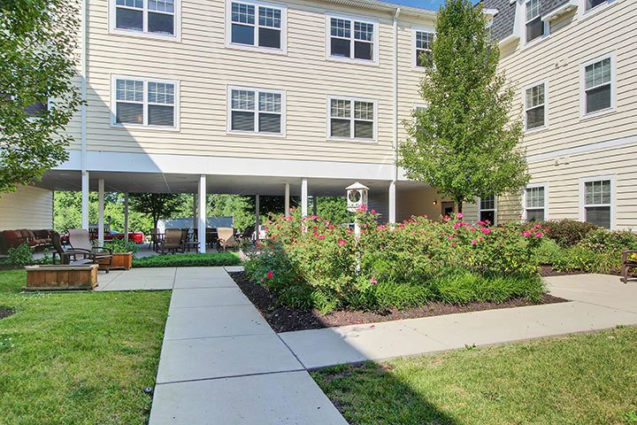 Outdoor Courtyard At Our Senior Living Home In Douglassville