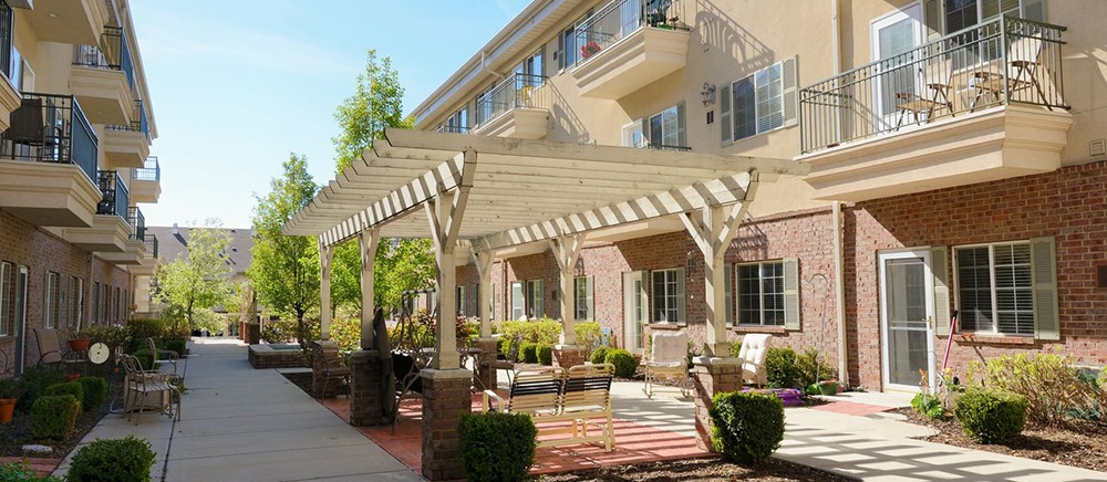 Enjoy our beautiful patio at Coventry at Cottonwood Heights