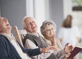Senior living in York shows residents having a good laugh