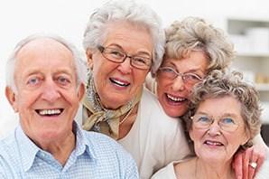 Residents enjoying a laugh at the senior living in Salt Lake City