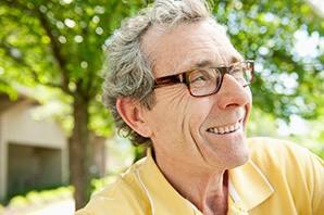 Resident enjoying sunshine at the senior living in Sandy