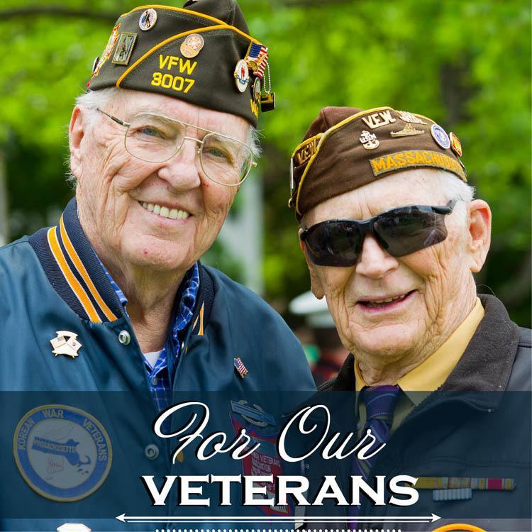 For our Almond Heights Senior Living veterans