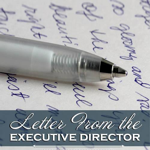 Letter from Pheasant Ridge Senior Living's executive director