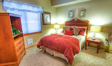 Bedroom at The Quarry Senior Living