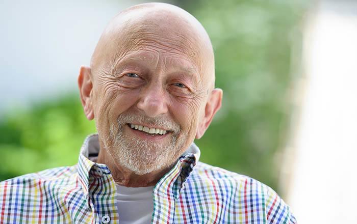 Gardener enjoying Almond Heights Senior Living assisted living