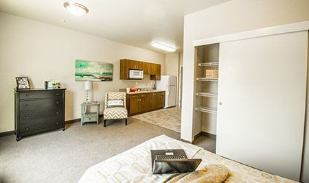 Spacious unit at Almond Heights Senior Living