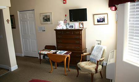 Living room of Arbor Rose Senior Care unit