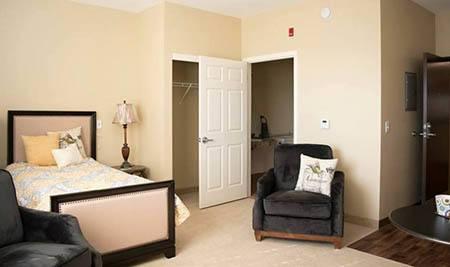 Joshua Springs Senior Living bedroom and storage