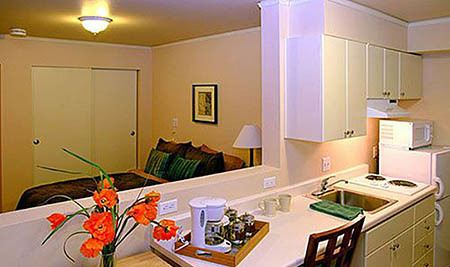 Kitchen and Bedroom at Maple Leaf Assisted Living & Memory Care