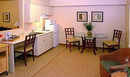 Kitchen and desk at Maple Leaf Assisted Living & Memory Care