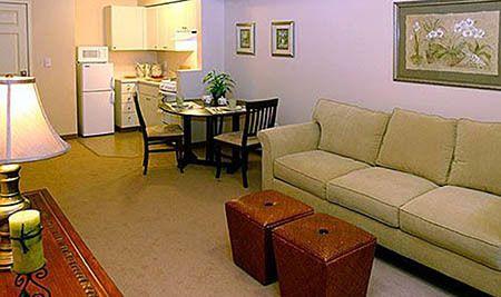 Living area at Seattle senior living