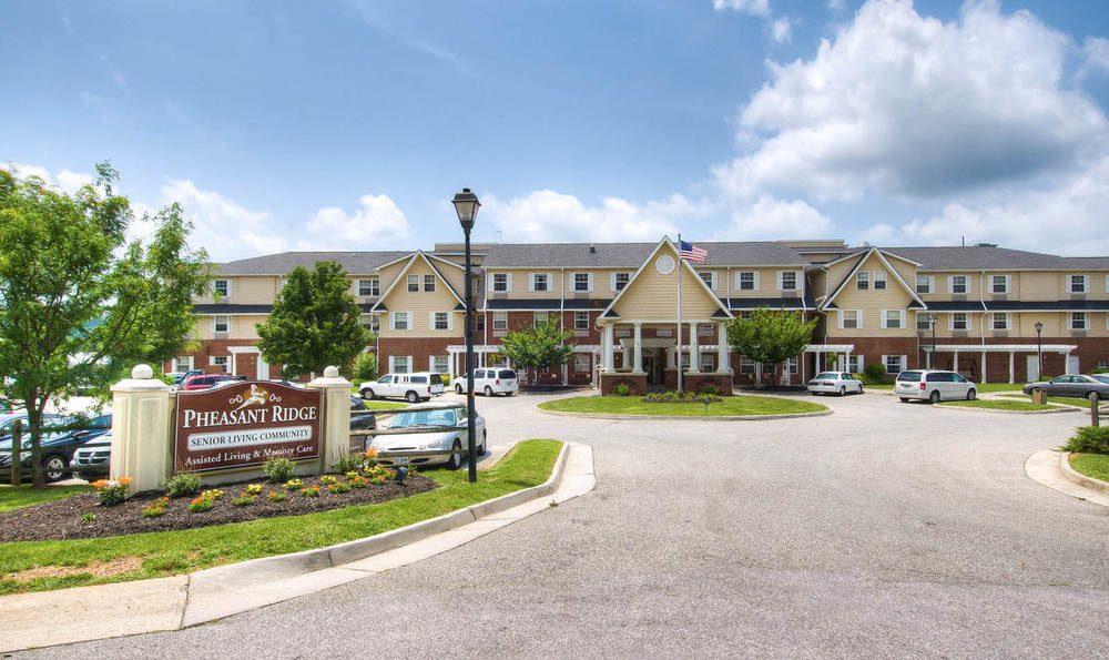 Parking Entrance at Pheasant Ridge Senior Living in Roanoke.