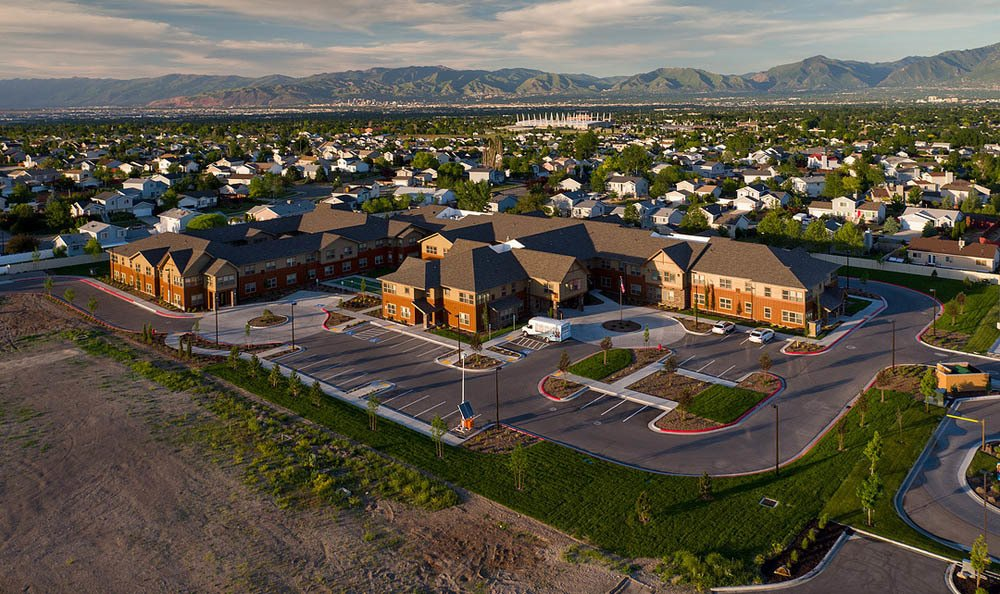 Aerial view of Summit Senior Living in Salt Lake City.