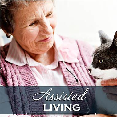 Assisted living resident at Bishop Place Senior Living