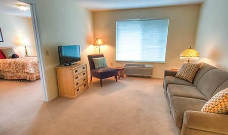 Interior of apartment at Bishop Place Senior Living in Pullman