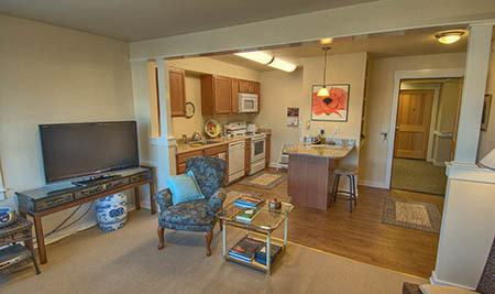 Apartment interior at Chandler's Square Retirement Community in Anacortes