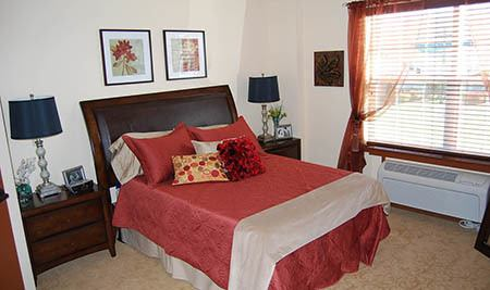 Bedroom at Flagstone Senior Living in The Dalles