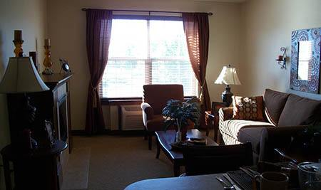 Living Room at Flagstone Senior Living in The Dalles